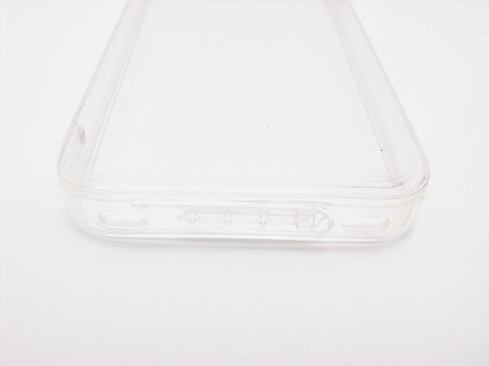 Case iphone 4/4s ขอบยาง หลังแข็ง ใส จุกกันฝุ่น