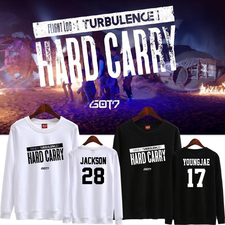 เสื้อแขนยาว (Sweater) GOT7 Hard Carry (ชื่อเมมเบอร์)