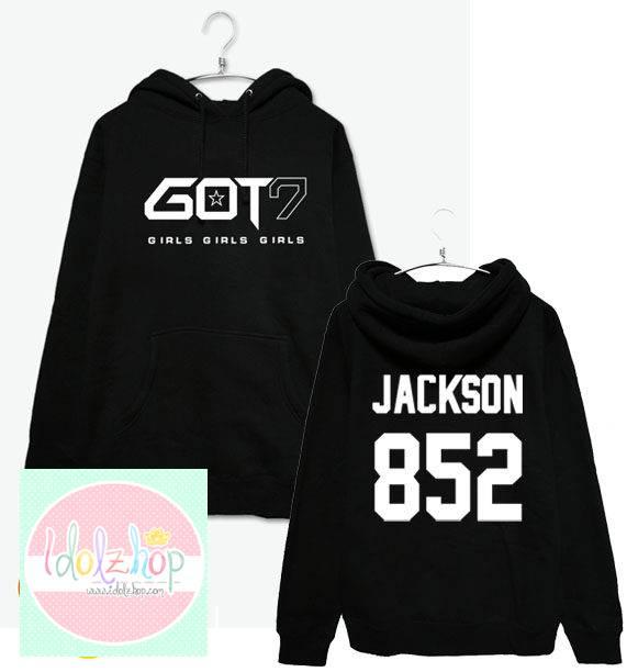 เสื้อฮูด เสื้อกันหนาว GOT7 สีดำ (ระบุชื่อ)