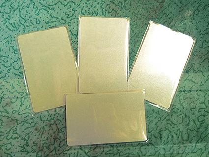 บัตรพีวีซี พื้นประกายทอง พื้นเมทัลลิค พิมพ์เพิ่มเติมได้