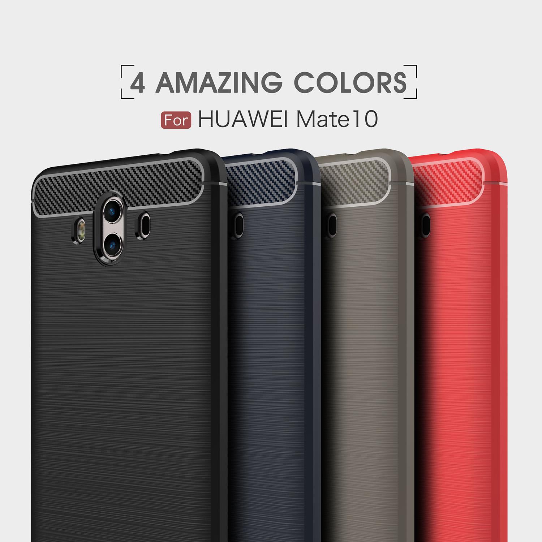 เคสนิ่ม Huawei Mate 10 รุ่น ลายคาร์บอนเคฟล่า