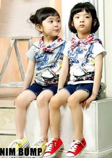 ND1004 BBQ เสื้อยืดเด็กแนวสไตล์เกาหลี สกรีนลายโรลเลอร์สเก็ต เก๋ไก๋ มีสีขาว และ สีเทา Size 90/100/110/120/130