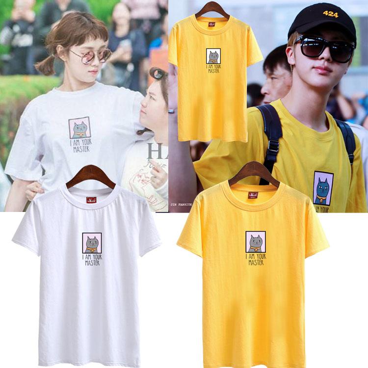 เสื้อยืด (T-Shirt) ลายแมว แบบ Jin + Lee Sungkyung