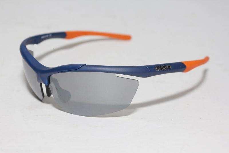 แว่นตานักปั่น BRIKO TRIDENT 2 LENSES, สีฟ้าส้ม, เลนส์ NAG .F8,Model:330970