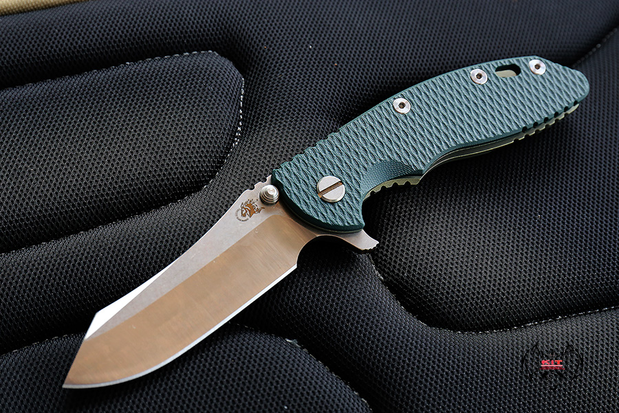 """RHK XM18 3.5"""" Limited Containment Skinner 2Tone Blade Green G-10"""