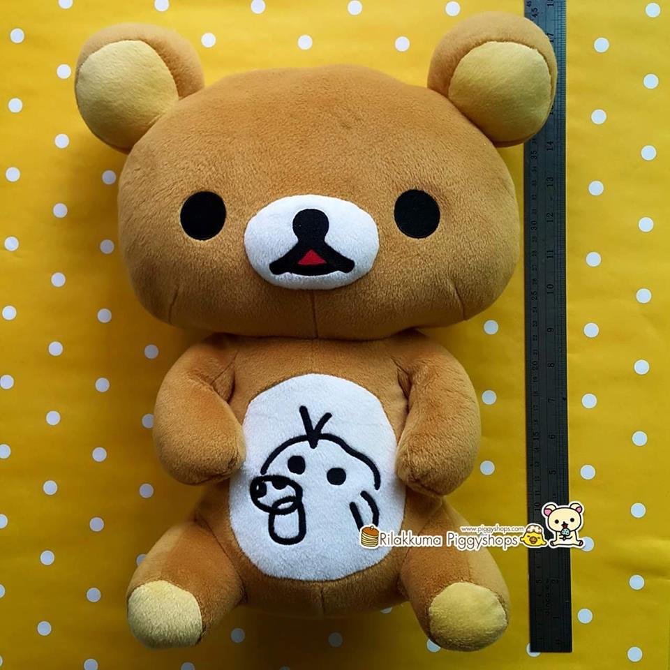 ตุ๊กตาหมีรีลัคคุมะโดนวาดที่ท้อง ท่านั่งไซส์ใหญ่ Rilakkuma plush doll