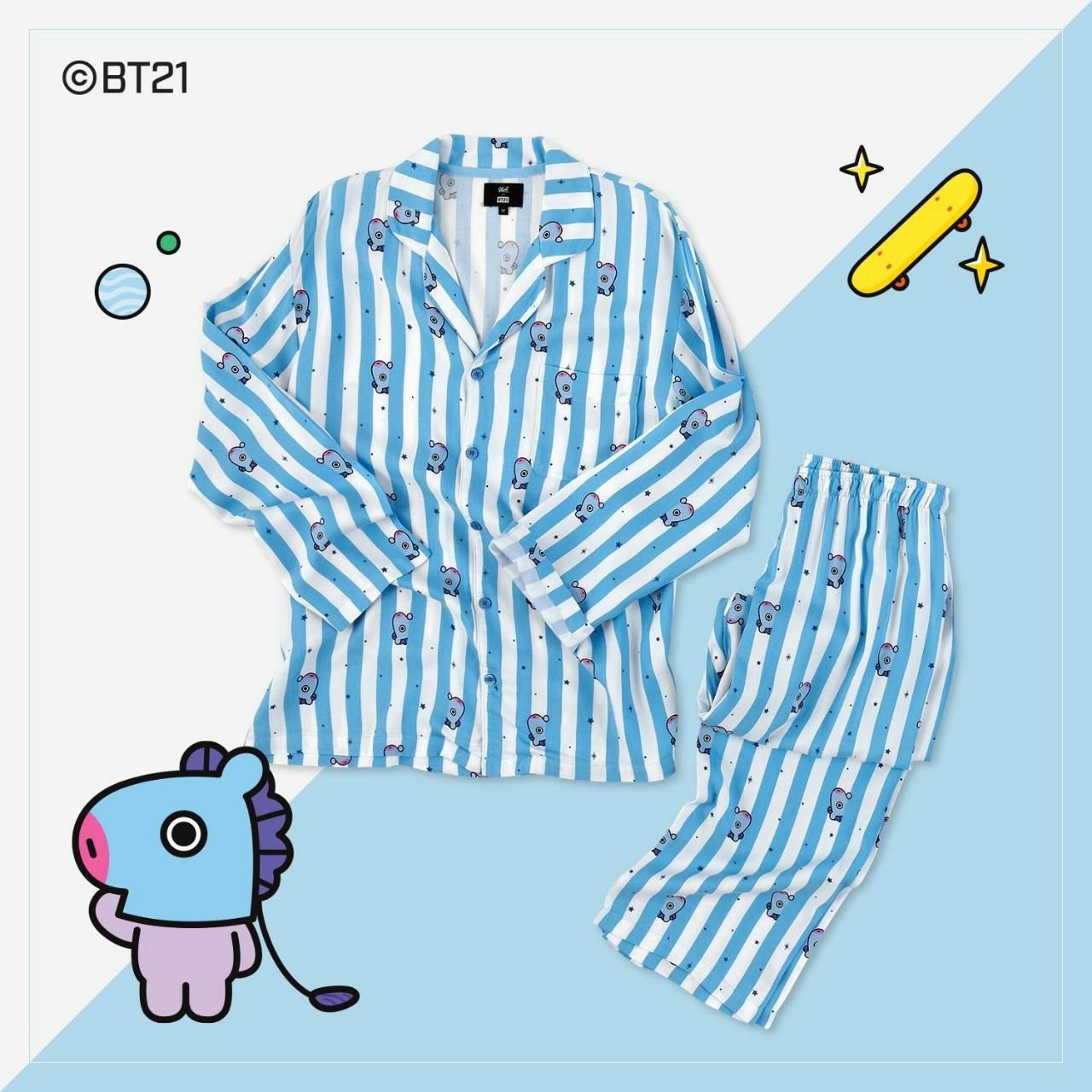 #BT21 PAJAMAS ชุดนอน (เสื้อ+กางเกง) : MANG