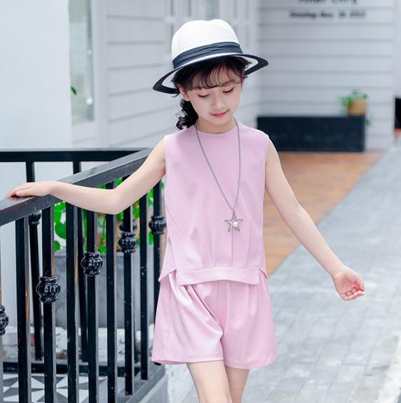 เสื้อ+กางเกง สีชมพู แพ็ค 6 ชุด ไซส์ 110-120-130-140-150-160 (เลือกไซส์ได้)