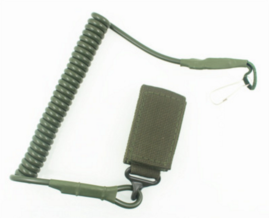 สายโยงปืน สายคล้องปืนพก สีเขียวทหาร
