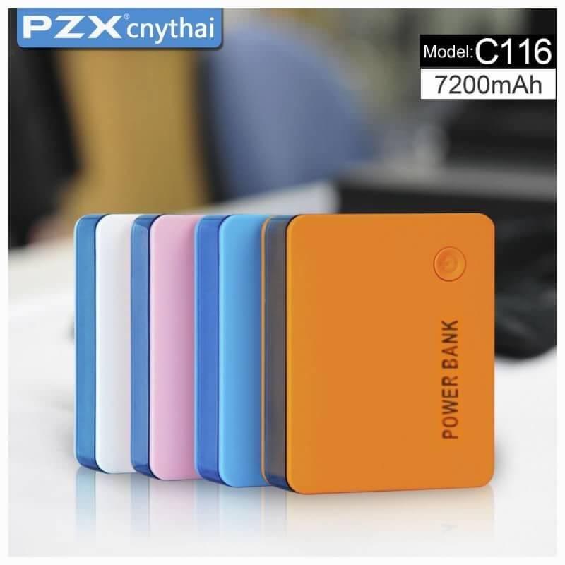 แบตสำรอง ยี่ห้อPZX รุ่น C116 7200 Mah