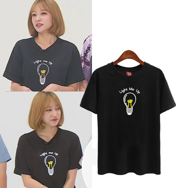 เสื้อยืด (T-Shirt) ลายหลอดไฟ แบบ Hani