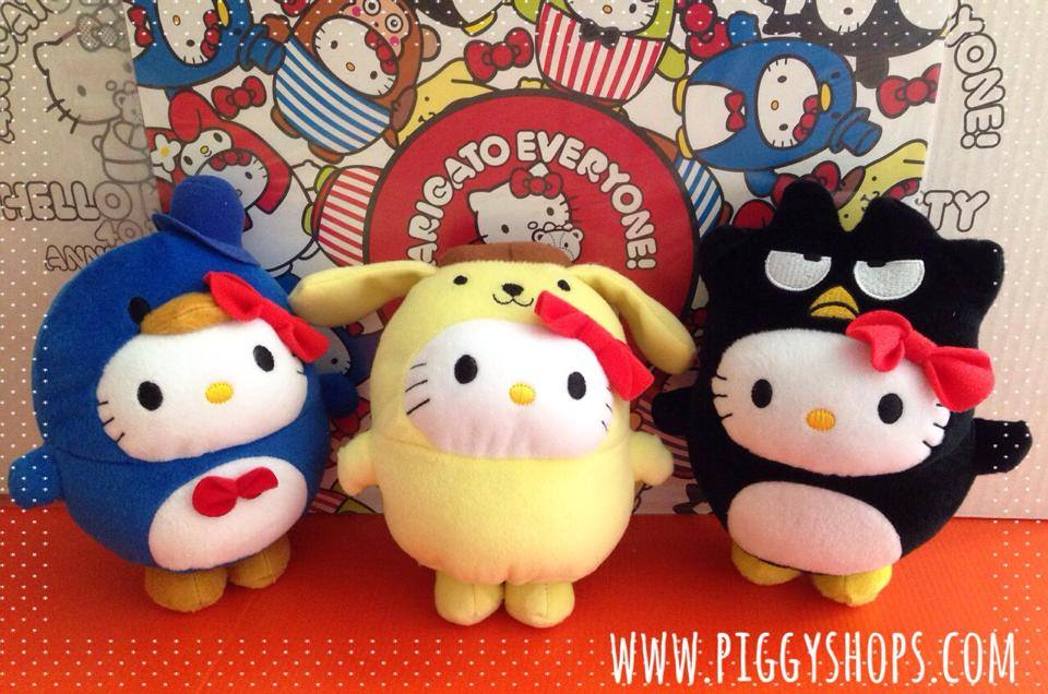 NEW!! คอลเลกชั่นสะสมตุ๊กตาคิตตี้งานแมคโดนัลด์ ปี 2014 (40th Anniversary) McDonald's Hello Kitty Bubble World 2014 set 6 pcs. MyMelody&#x273FMonkichi&#x273FKerokerokeroppi&#x273FTuxedosam&#x273FPomPomPurin&#x273FBadBadtz-maru