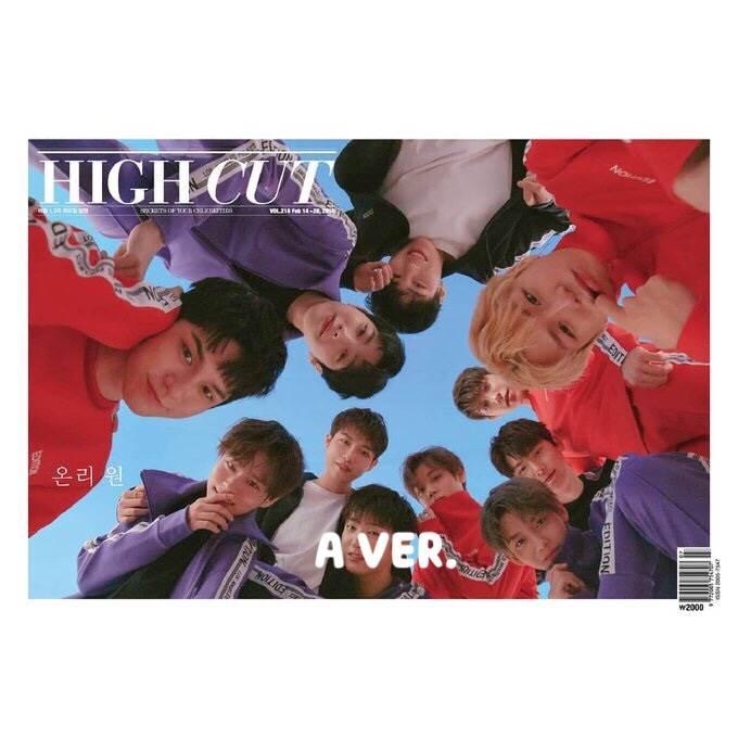 นิตยสาร [#WANNAONE] HIGH CUT VOL.216 ปก A VER.