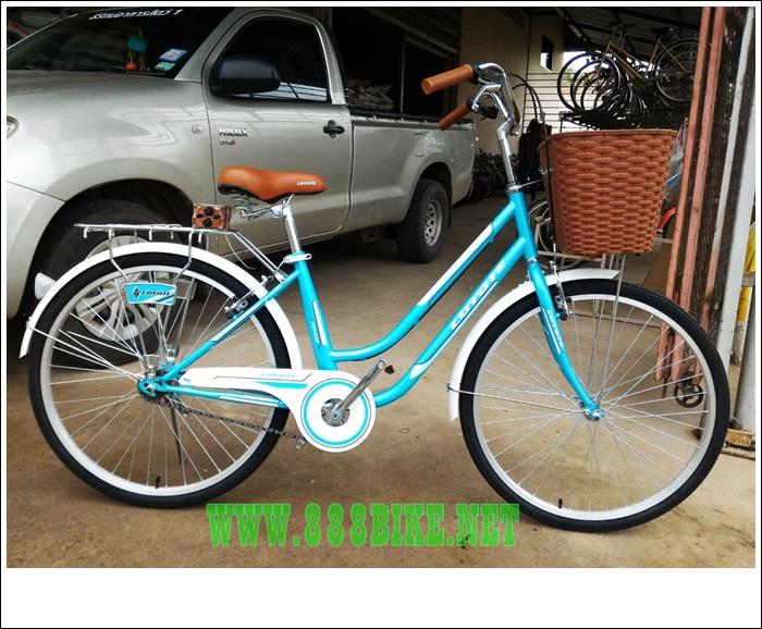 จักรยานซิตี้ไบค์ COYOTE ABBA 26 นิ้ว ไม่มีเกียร์ พร้อมตะกร้าหน้า