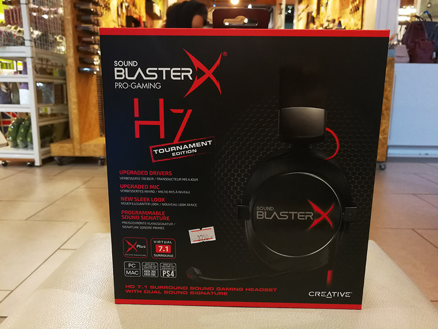 หูฟัง Creative Sound BlasterX H7 Tournament Edition 7.1 Ch Gaming Gear สำหรับนักเล่นเกมส์แบบมืออาชีพ