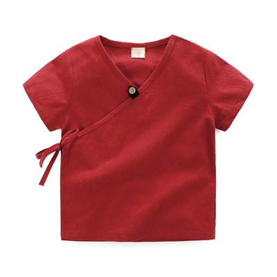 เสื้อแขนสั้นสีแดง [size 1y-2y-3y-4y-5y]