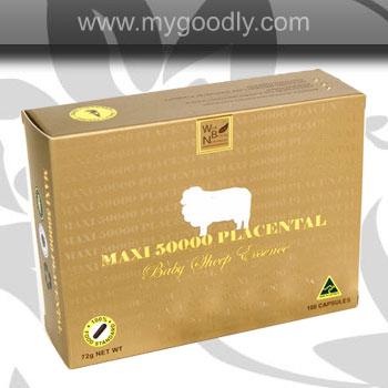 Maxi 50000 Placental ราคาส่ง 1900 รกแกะ Maxi 50,000 Mg ใหม่ล่าสุด