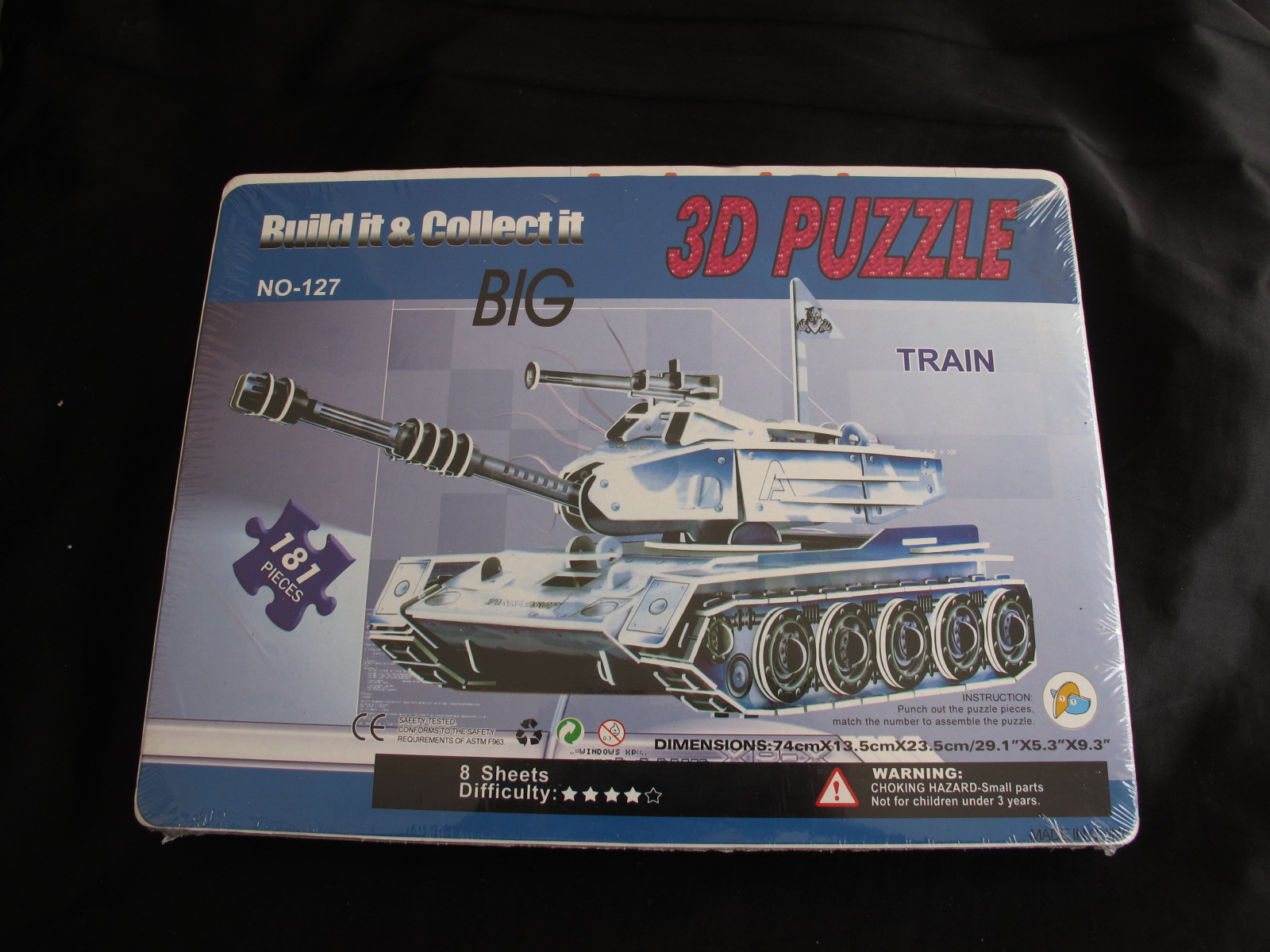 โมเดลกระดาษรถถัง ขนาด 181 ชิ้น ขนาดใหญ่ 8 แผ่น Tank (SUPER 3D PUZZLE)