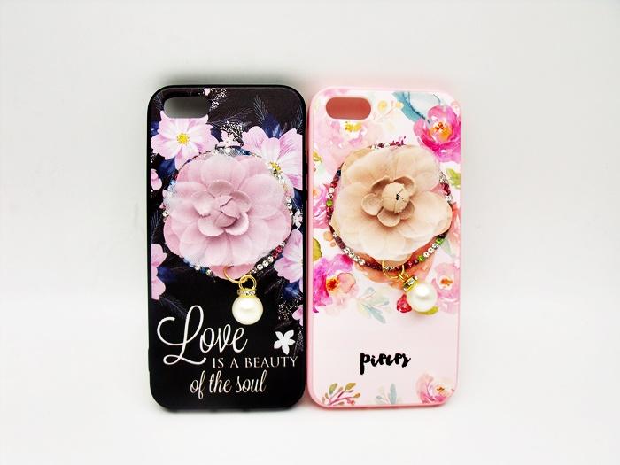 เคส tpu ดอกไม้ห้อยมุกแต่งเพชร ไอโฟน 7 Plus 5.5 นิ้ว(ใช้ภาพรุ่นอื่นแทน)