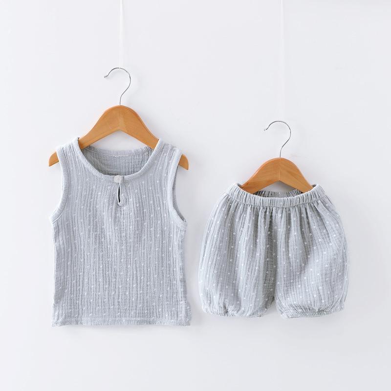 ชุดเซตเสื้อกล้ามลายดาวสีเทา แพ็ค 3 ชุด [size 6m-2y-3y]