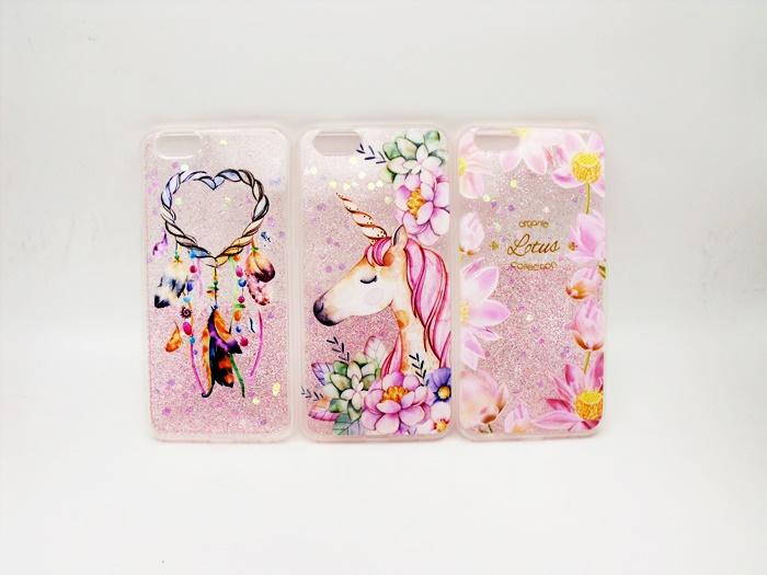 เคส ไอโฟน 6Plus/6s Plus 5.5 นิ้ว tpu กากเพชรลายดอกไม้คลาสสิก