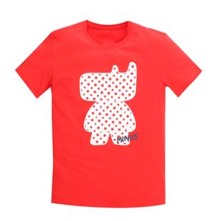 เสื้อลายการ์ตูน แบบ JYJ (สีแดงลายจุด)