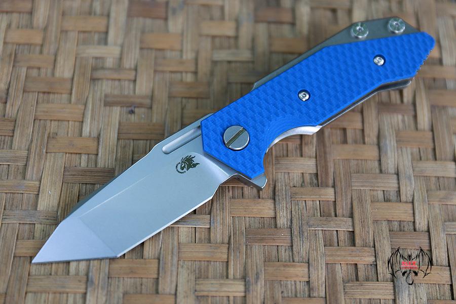 RHK Half Track Tanto Stonewash Blade Blue G10