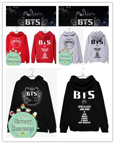 เสื้อฮู้ด BTS (เลือกสี)