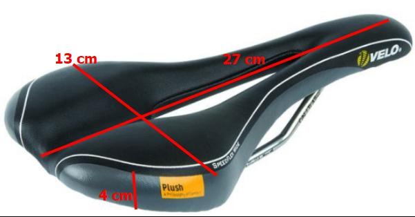 """เบาะจักรยาน VELO Plush """"SpeedFlex Wide"""" Saddle"""