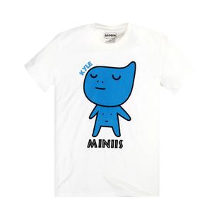 เสื้อลายการ์ตูน แบบ JYJ (สีขาวลายการ์ตูนสีน้ำเงิน)