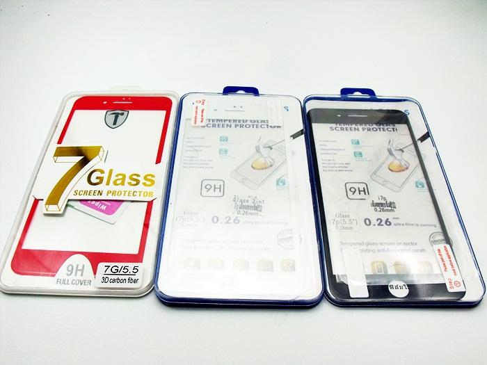 ฟิล์มกระจก Iphone 7plus-5.5 เต็มจอ ขอบโค้งมน นิ่ม
