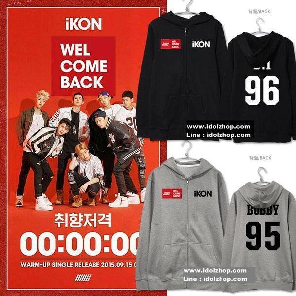 เสื้อกันหนาว เสื้อแฟชั่นเกาหลี iKON YG