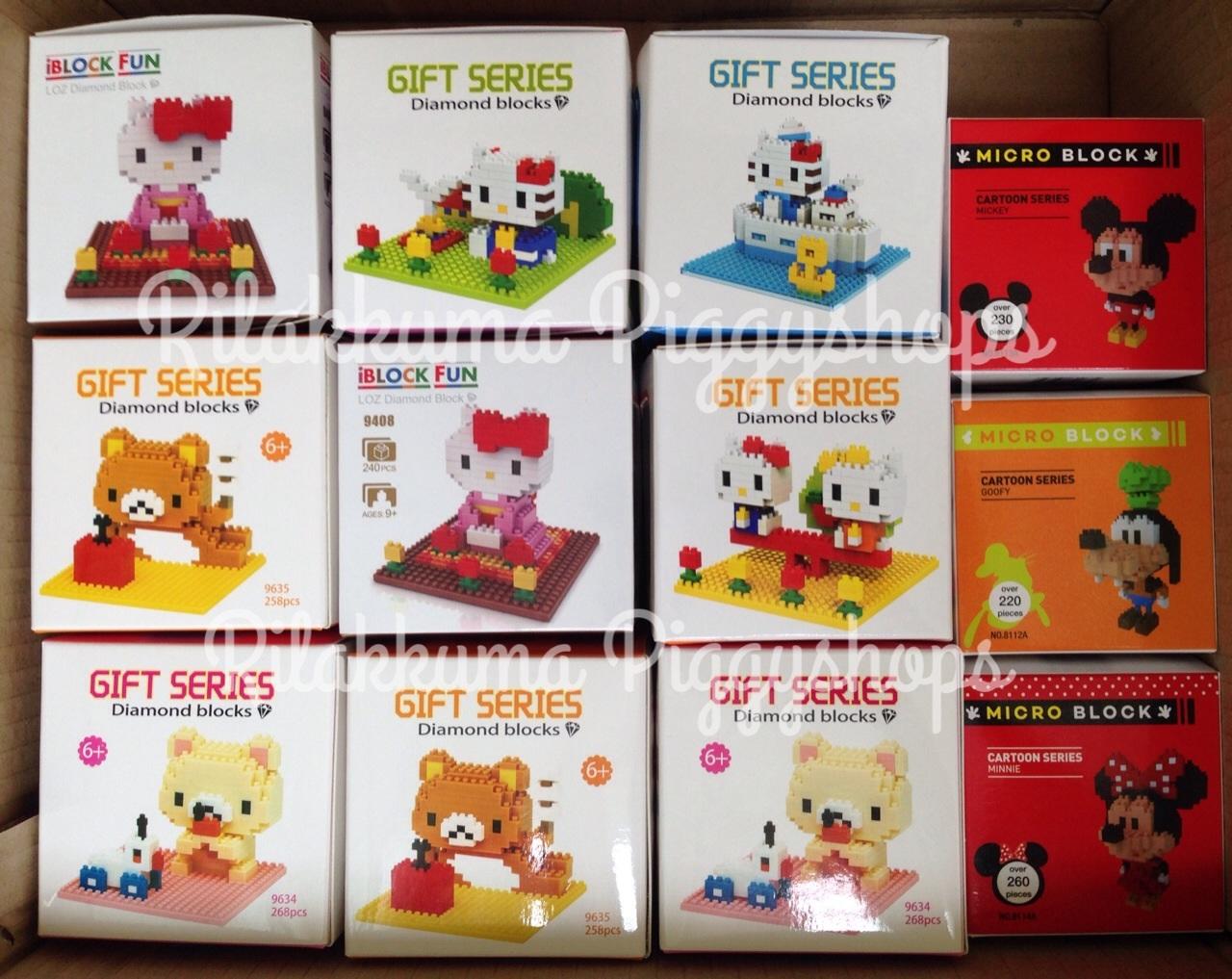 ตัวต่อเลโก้จิ๋ว เฮลโหลคิตตี้ชุดกิโมโน Hello Kitty in kimono costume nanoblock