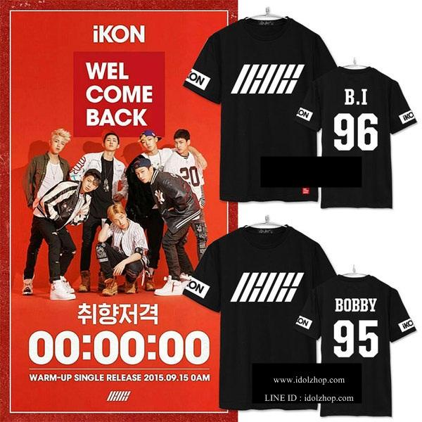 เสื้อยืดแฟชั่นเกาหลี iKON YG