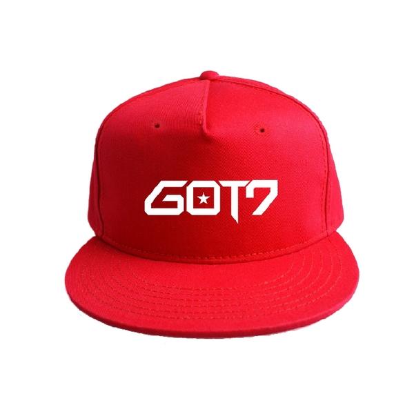 หมวก GOT7 สีแดง