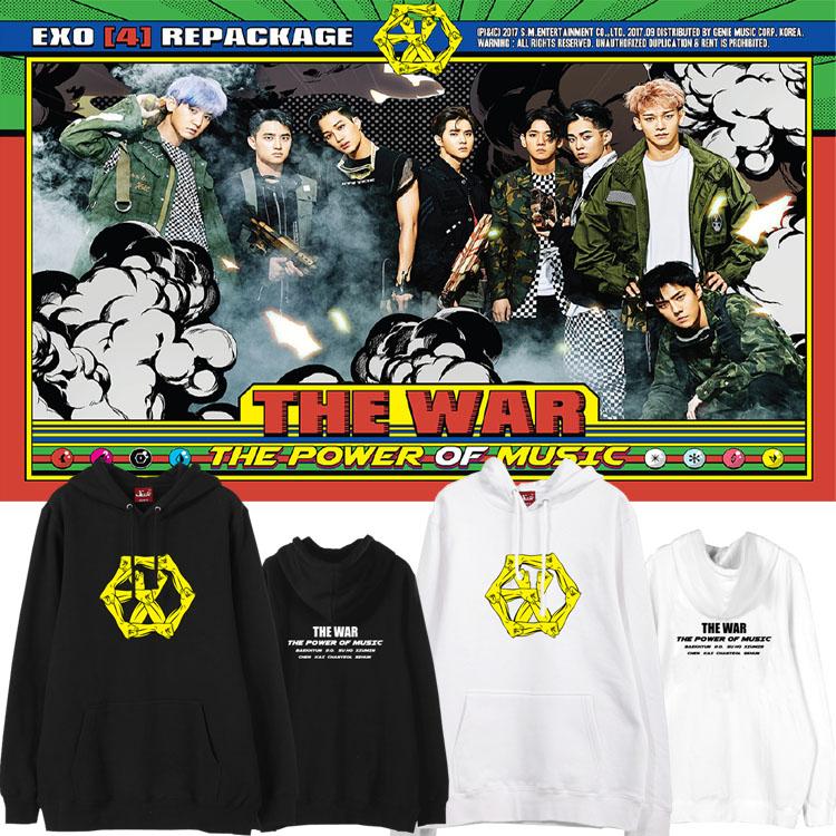เสื้อฮู้ด (Hoodie) EXO - THE WAR The Power of Music (ver.2)
