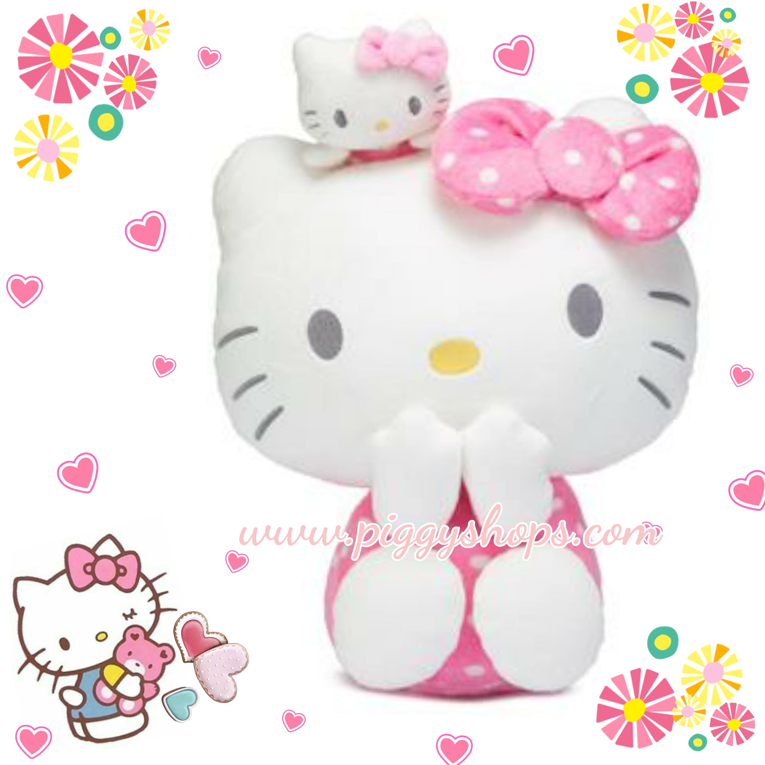 Hello Kitty with little twins plush doll SIZE L &#x1F380
