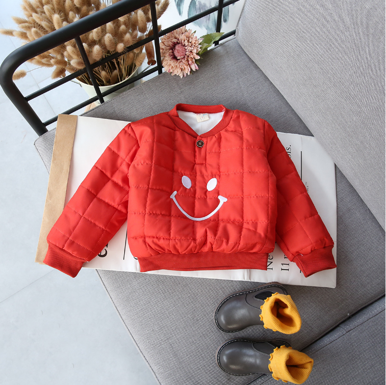 เสื้อ (ด้านในมีขนอ่อนๆ) สีส้ม แพ็ค 5 ชุด ซส์ 7-9-11-13-15