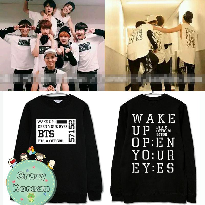 เสื้อแขนยาว BTS - WAKE UP