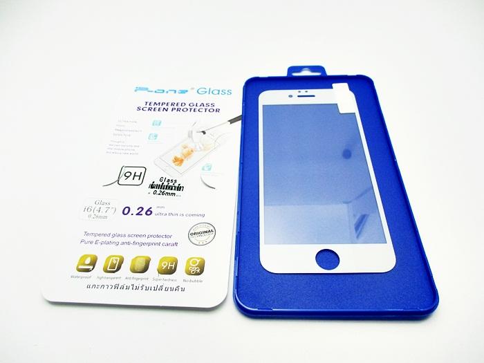 ฟิล์มกระจกเต็มจอ Iphone 6-4.7 สีเต็มจอ