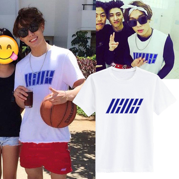 เสื้อยืดแฟชั่นเกาหลี IKON SHOWTIME สีขาว