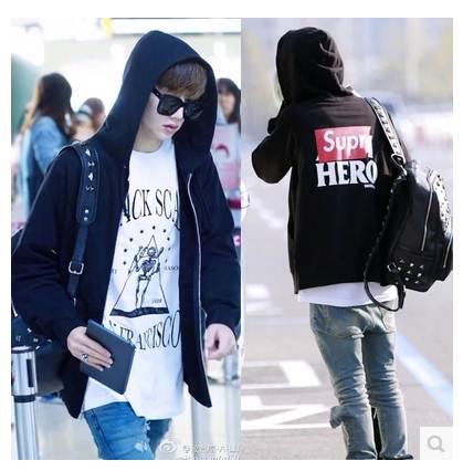 เสื้อแฟชั่นเกาหลี เสื้อแจ็คเก็ต เสื้อกันหนาว GOT7 แจ็คสันมาร์ค (สีดำ)