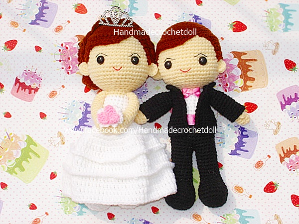 ตุ๊กตาแต่งงาน เจ้าบ่าวเจ้าสาว 9 นิ้ว แบบ2
