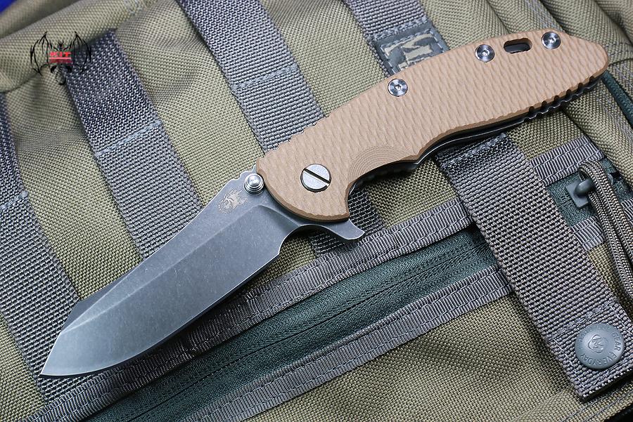 "RHK XM18 3.5"" Skinner Battle Black Blade Coyote G-10"