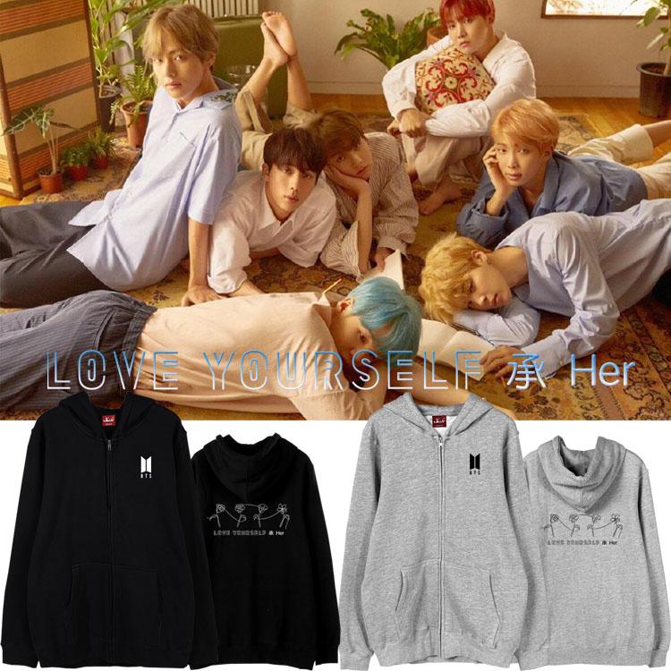 เสื้อฮู้ดซิปหน้า (Hoodie) BTS Love Yourself