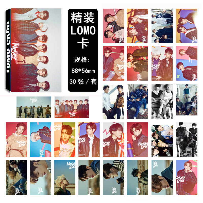 LOMO Card GOT7 - Never ever