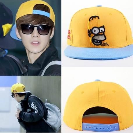 หมวกแฟชั่น EXO LUHAN การ์ตูน (สีเหลือง)