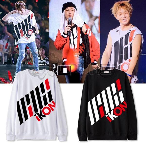 เสื้อแฟชั่นนักร้องเกาหลี เสื้อแขนยาว iKONCERT (ระบุไซส์ สี)