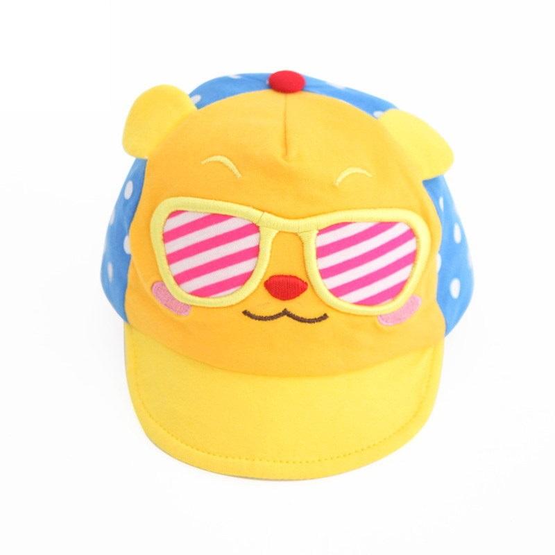หมวกน้องหมีใส่แว่นสีเหลือง แพ็ค 3 ชิ้น
