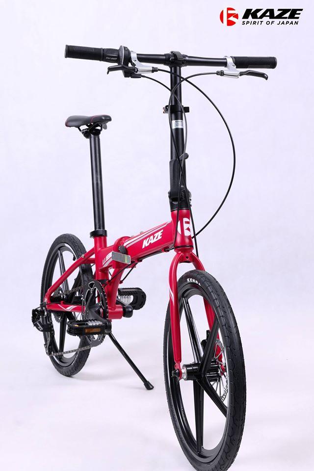 จักรยานพับได้ล้อแม็ก KAZE W9 ,เฟรมอลู 8 สปีด SRAM
